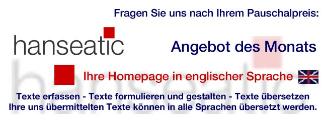 ANGEBOT AKTUELL - hanseatic text + translation - Weener, Germany